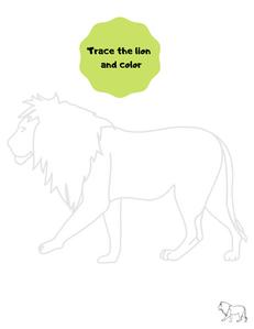 Trace the lion