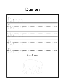 Free name tracing worksheet