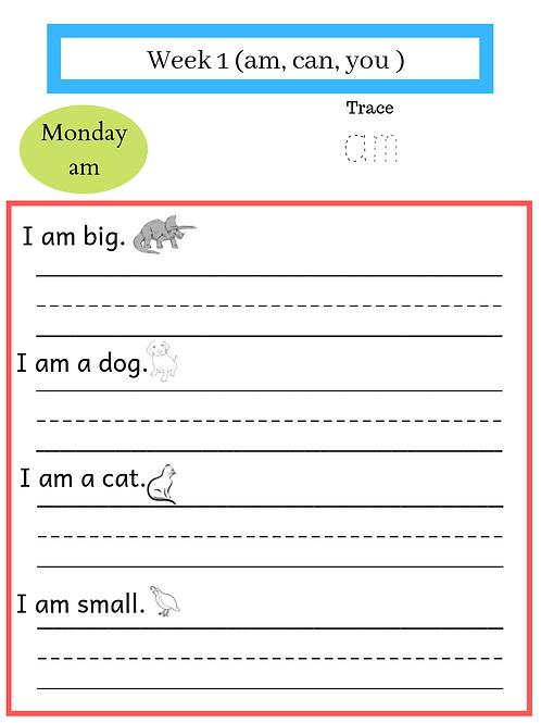 1st Grade Sight Words (September-June)