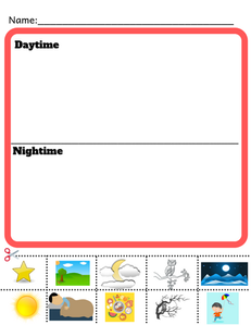 Kindergarten Interactive Science Worksheet