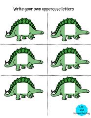 Dinosaur Editable Letter Cards