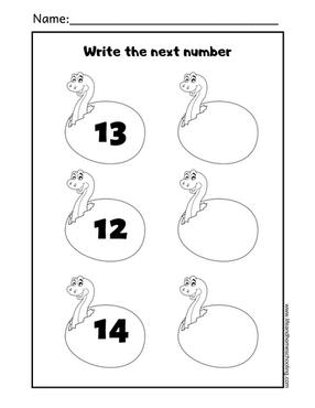 Toddler - preschool Counting Printable