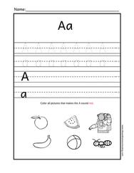 Alphabet Trace Printable