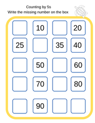Counting by 5s worksheets