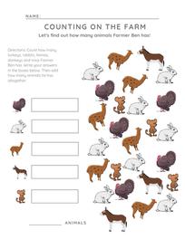 Preschool Counting Activity Worksheet