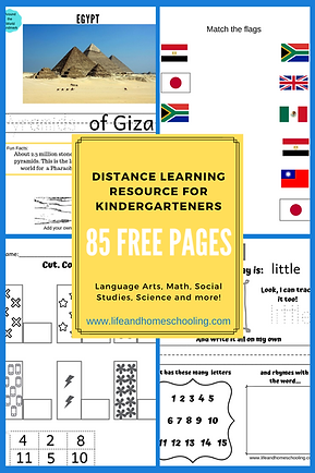 Free Distance Learning Resource for Kindergarteners