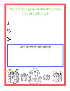 Christmas Sunday School Printable