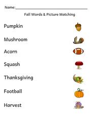 Fall Sight Words