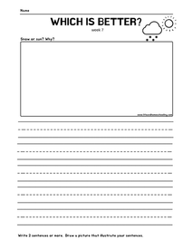 1st Grade Writing Prompt