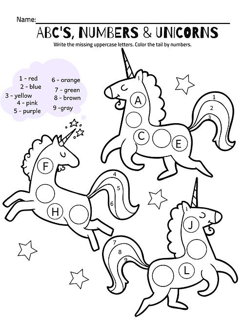 ABC's, Numbers & Unicorns