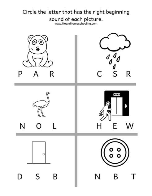 Beginning Sound Worksheet