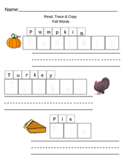 Fall Sight Words