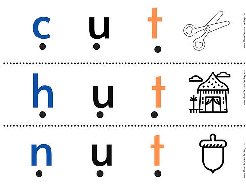 Pocket Chart CVC Word Printables
