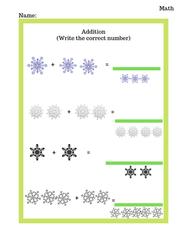 Preschool Winter Addition