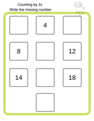 Counting by 2s Worksheet