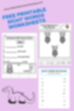 Free Printable Sight Words Worksheets life and homeschooling
