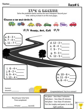 Kindergarten Subtraction Activity