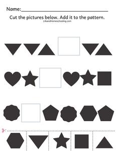 Free Preschool Patterns Printable