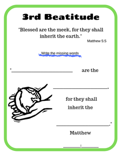 3rd Beatitude verse printable
