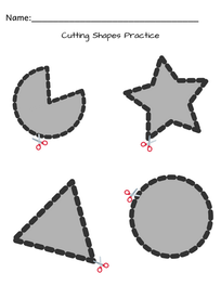 Cutting Shapes Practice