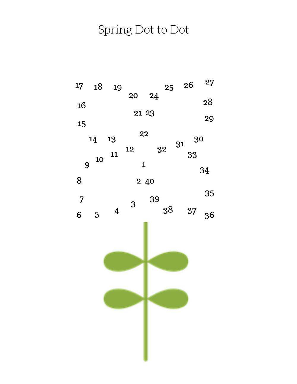 Free Spring Dot to Dot