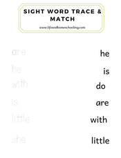 Sight Words Trace & Match
