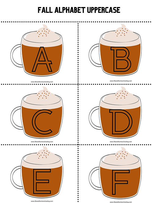 Fall Alphabet Templates