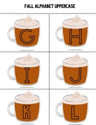 Fall Pumpkin Latte Alphabet Templates