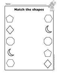 Free Matching Shapes