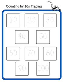 Counting by 10s Tracing