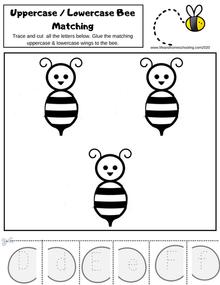 Bee alphabet trace & match