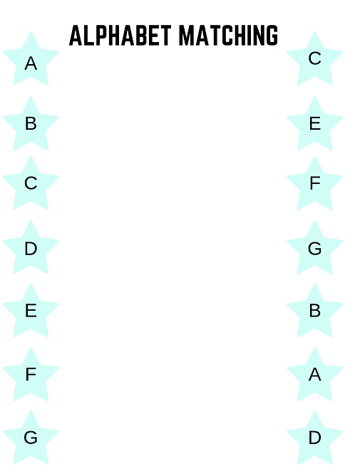 Alphabet Matching Printable Activity