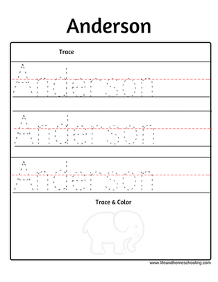 Anderson name trace