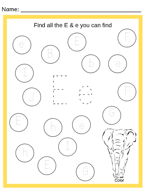 Preschool Alphabet Trace & Find