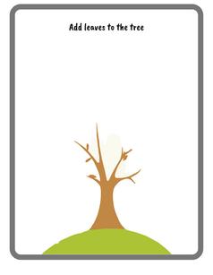 Draw a tree printable