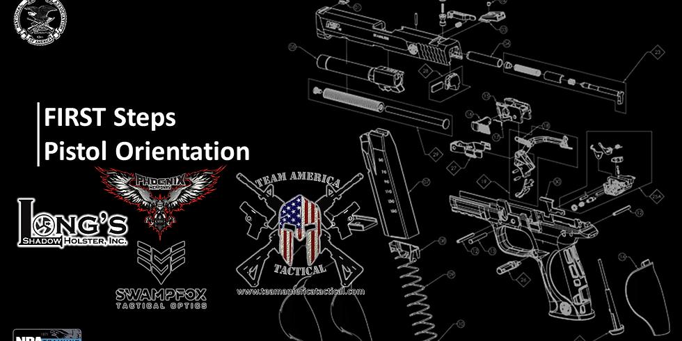 First Steps Pistol Orientation