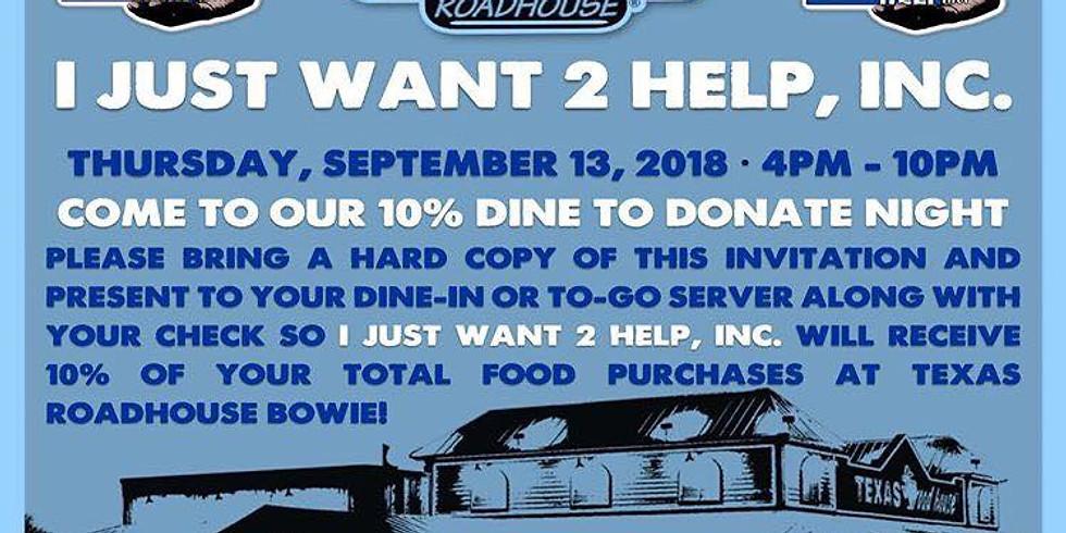 Dine 2 Donate @ Texas Roadhouse