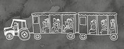 Illustration de la promenade en carriole réalisée pourle dépliant touristique de la municipalité de Saint-Élie-de-Caxton