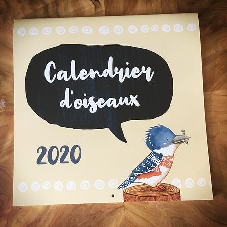 Calendrier d'oiseax 2020 par Catherine Bard