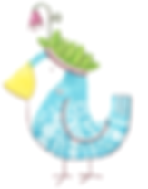 Oiseau turquoise mignon avec une couronne de feuilles et de fleurs