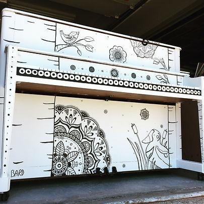 Piano public de Shawinigan réalisé par Catherine Bard, en collaboration ave Culture Shawinigan