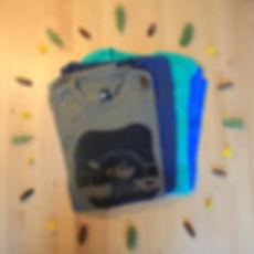 Design de T-shirt réalisé pour amasser des fonds pour la participation d'Élise Morin au Défi Kayak Desgagné au profit de Jeunes musiciens du monde. L'illustration représente u ours en kayak devant le pont Laviolette à Trois-Rivières.