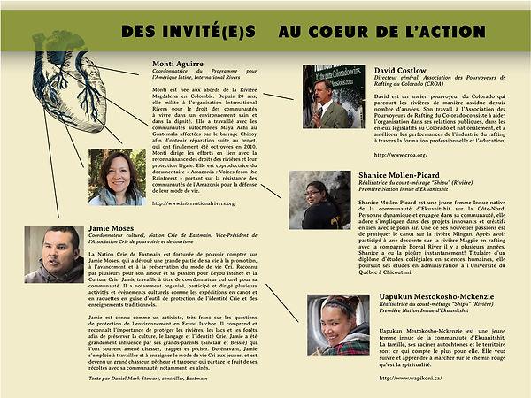 Dépliant réalisé pour la SNAP Québec dans le cadre du forum nord-amérian sur la préservation des rivières 2018