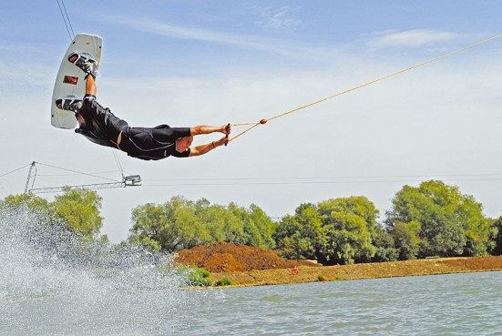 Wakeboarding in the Waterpark