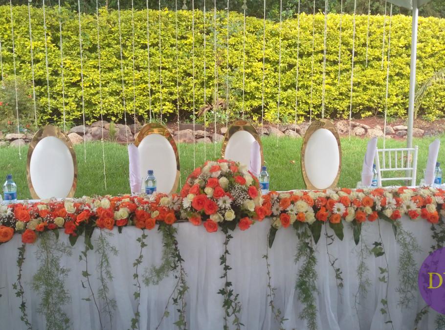 Elegant high table setting.