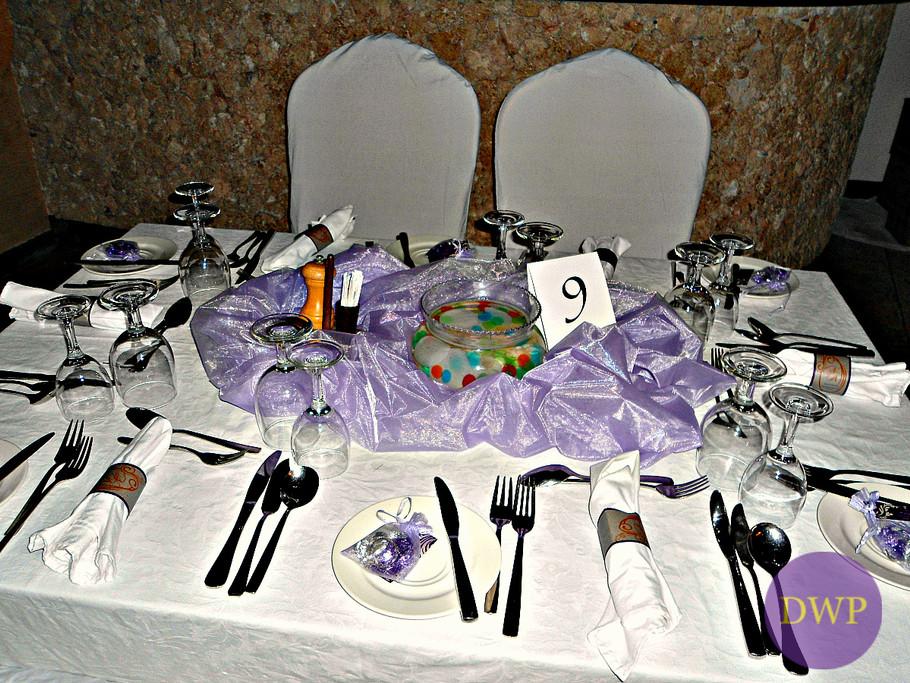 Coastal Sweet heart wedding table.