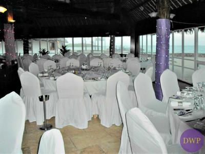 Coastal wedding reception