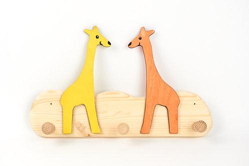 Garderobe klein - 2 Giraffen