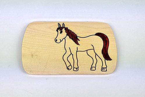 Frühstücksbrettchen Pferd - auch graviert