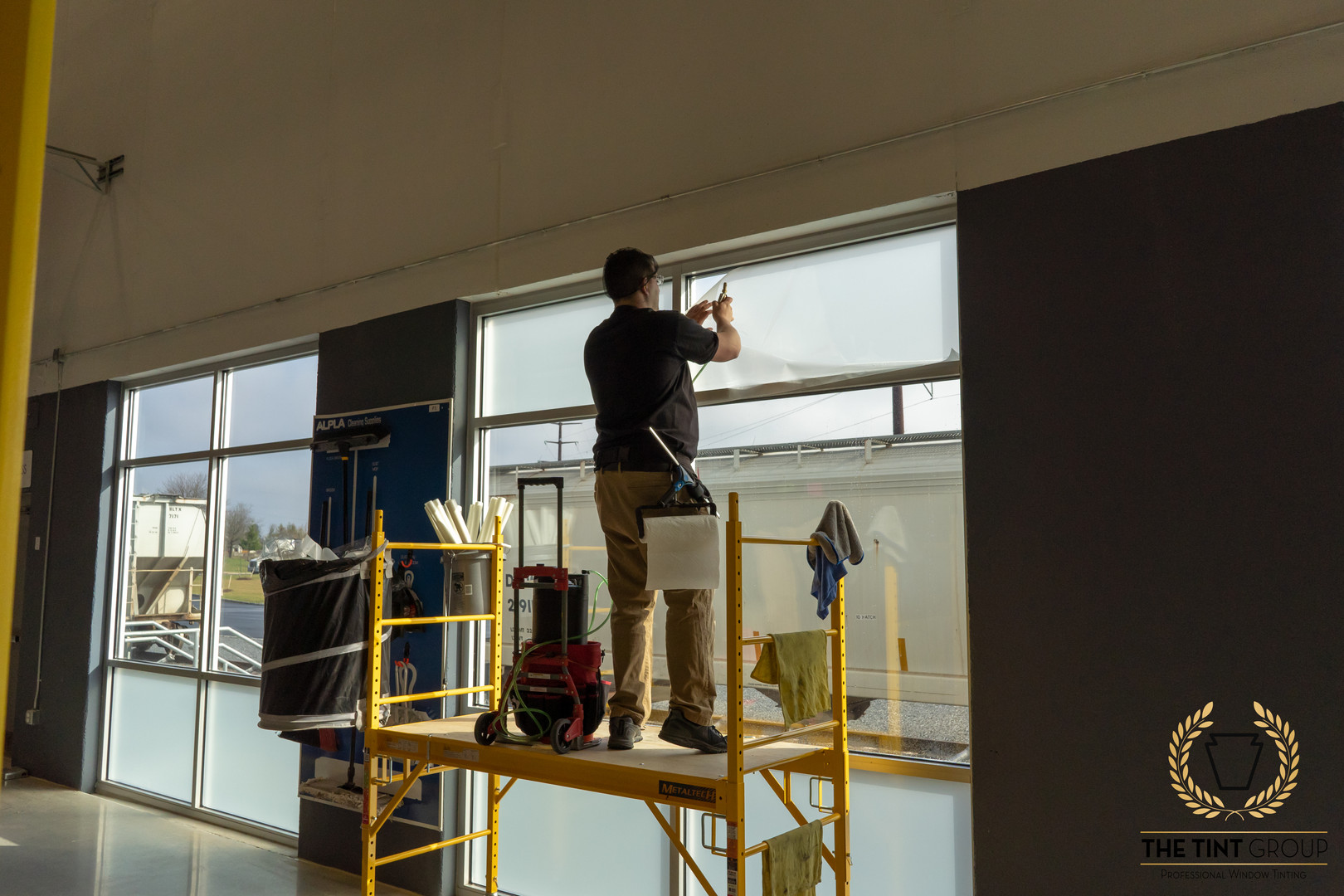 Safety film install